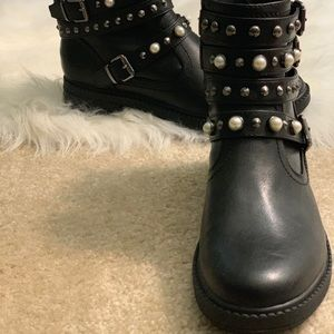 Black Groovi Motorcycle Boot G By Guess